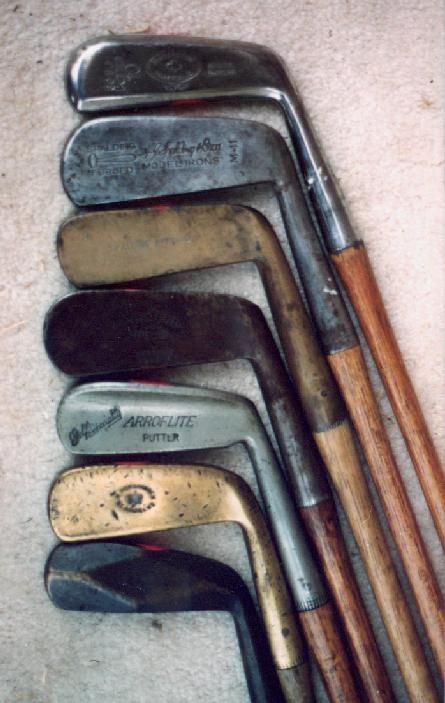 Historia del putter : Putters antiguos cabeza metálica 1870