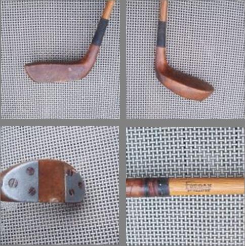 Historia del putter : Putter de madera de haya y varilla de fresno