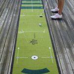 Alfombra de prácticas para realizar clases de golf y putter