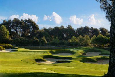 Real Club de Golf El Prat, Terrassa, Barcelona, Hoyo 10 Open par 5