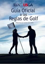 guia oficial reglas de golf 2019